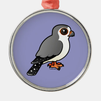 African Pygmy Falcon Metal Ornament