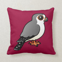 African Pygmy Falcon Cotton Throw Pillow