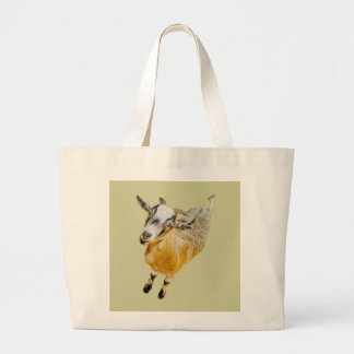 African Pygmy Goat Large Tote Bag