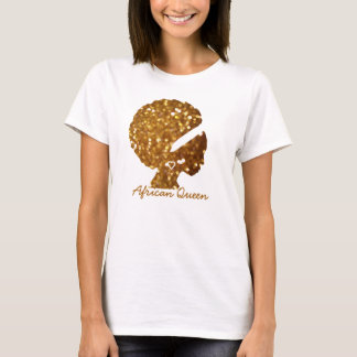 African Queen Gold Glitter Women's Basic T-Shirt