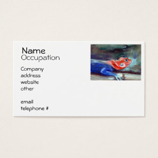 African Rainbow Lizard Business Card