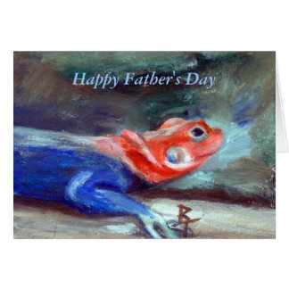 African Rainbow Lizard Father's Day Card