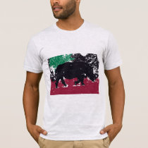 African Rhino - Abstract Painting T-Shirt