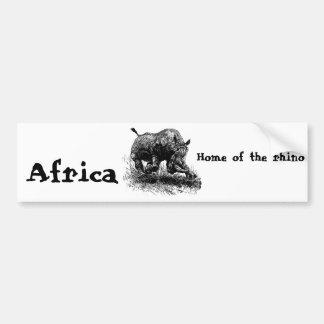 African Rhino Bumper Sticker
