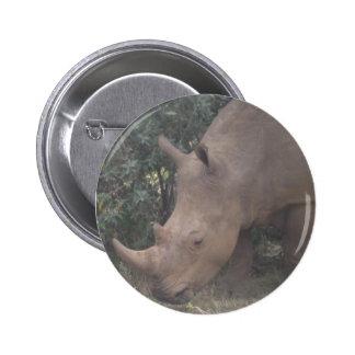 African Rhino Button