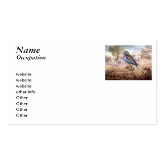 African Roller Double-Sided Standard Business Cards (Pack Of 100)