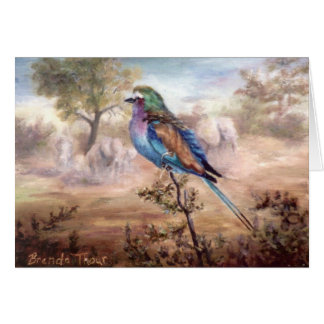 African Roller Greeting Card