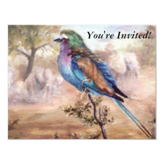 African Roller 4.25x5.5 Paper Invitation Card
