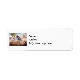 African Roller Return Address Label
