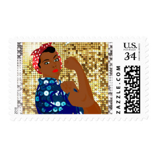african rosie the riveter postage postal stamps