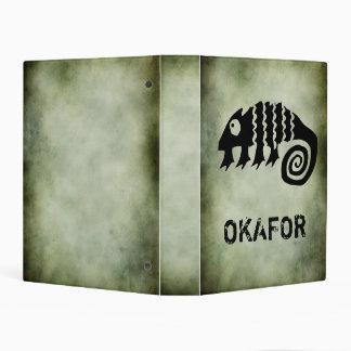 African sacred symbols monthly date planner mini binder
