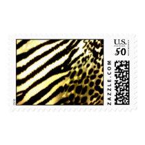 African safari animal print postage