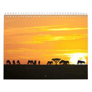 African safari calendar
