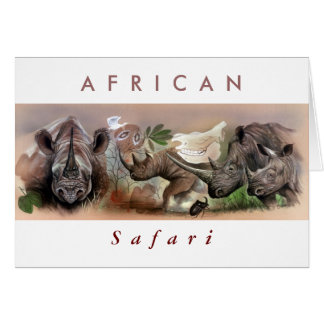 African Safari. Card