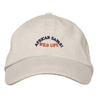 AFRICAN SAFARI EMBROIDERED BASEBALL CAP