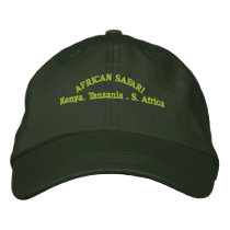 AFRICAN SAFARI EMBROIDERED BASEBALL HAT