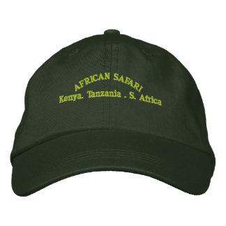 AFRICAN SAFARI EMBROIDERED BASEBALL HAT