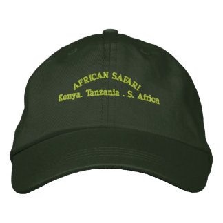 AFRICAN SAFARI EMBROIDERED HAT