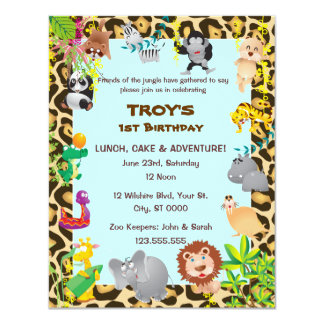 African Safari - First Birthday Party Invitation