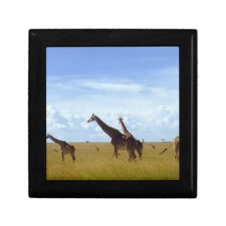 African Safari Giraffes Keepsake Box