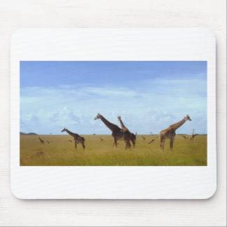 African Safari Giraffes Mouse Pad