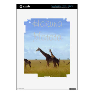 African Safari Giraffes Skin For iPad 3