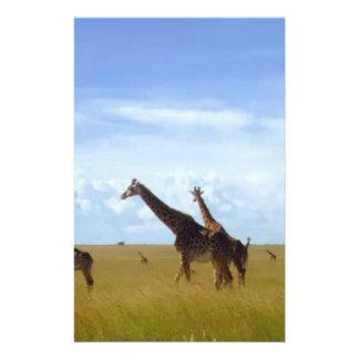 African Safari Giraffes Stationery