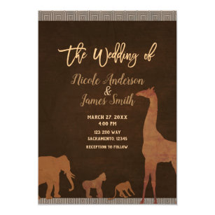 African Wedding Invitations Zazzle