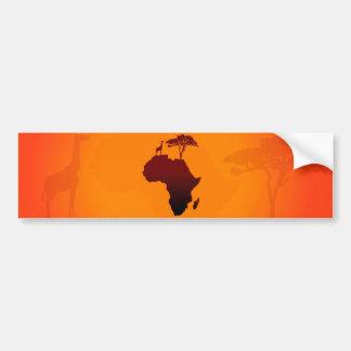African Safari Map - Bumper Sticker