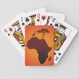 African Safari Map - Card Deck