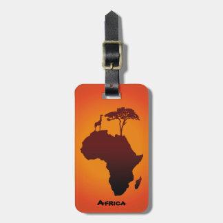 African Safari Map - Luggage Tag