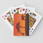 "African Safari Silhouette - Card Deck<br><div class=""desc"">African safari silhouette background with a giraffe,  a tree and an elephant.</div>"