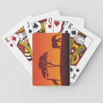 African Safari Silhouette - Card Deck