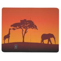 African Safari Silhouette - Pocket Journal