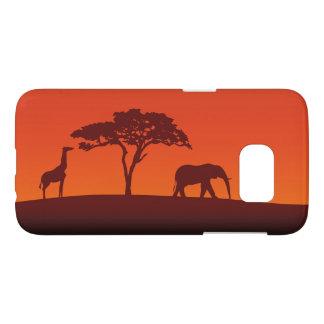 African Safari Silhouette - Samsung Galaxy Case