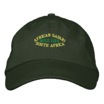 AFRICAN SAFARI, SOUTH AFRICA EMBROIDERED BASEBALL CAP