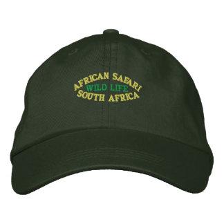 AFRICAN SAFARI, SOUTH AFRICA EMBROIDERED BASEBALL CAP