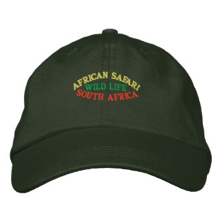 AFRICAN SAFARI, SOUTH AFRICA EMBROIDERED HATS