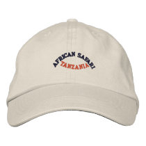 AFRICAN SAFARI, TANZANIA EMBROIDERED BASEBALL HAT