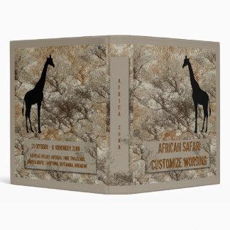 African Safari travel or vacation photo binder
