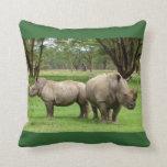 African Safari White Rhinoceros Love Party Destiny Pillow