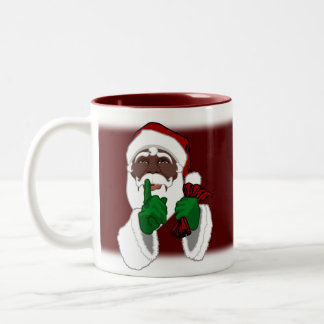 African Santa Mugs Custom Black Santa Cup