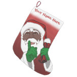 African Santa Stocking Custom Christmas Stockings