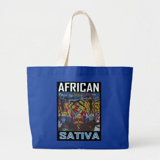 AFRICAN SATIVA LARGE TOTE BAG