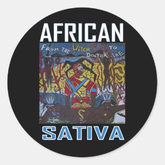 AFRICAN SATIVA ROUND STICKER