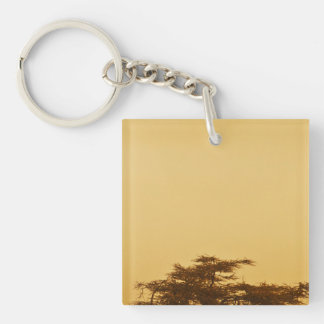 African Savanna Tree Keychain