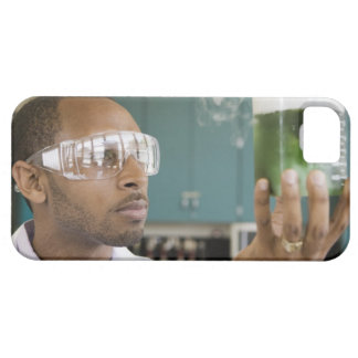 African scientist examining experiment in iPhone SE/5/5s case