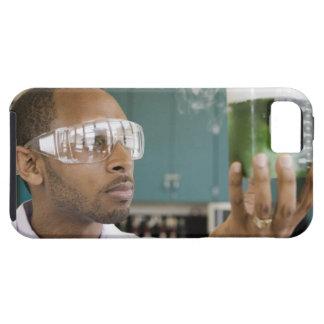 African scientist examining experiment in iPhone SE/5/5s case