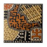 African Shaman Earth Spirits Ceramic Tile