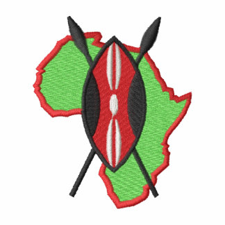 African Shield Embroidered Shirt